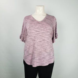 Cleo Pink & Grey Top Size 2XL